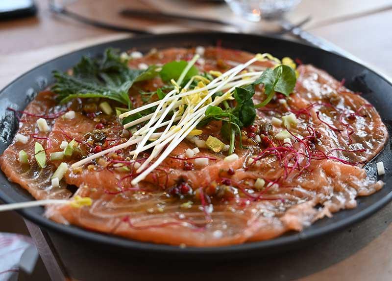 Saumon label rouge (pêche équitable) en ceviche